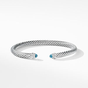 Cable Classics Bracelet with Blue Topaz and Diamonds alternative image