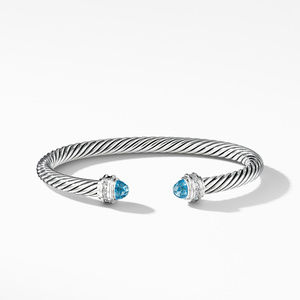 Cable Classics Collection® Bracelet with Blue Topaz and Diamonds alternative image