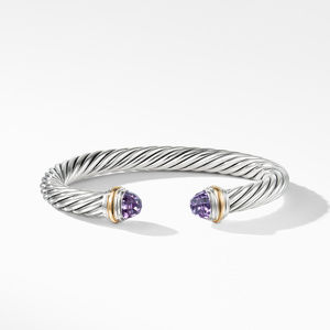 Cable Classics Collection® Bracelet with Amethyst and 14K Gold alternative image