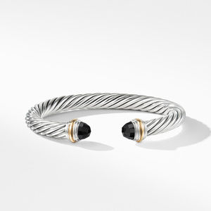 Cable Classics Collection® Bracelet with Black Onyx and 14K Gold alternative image
