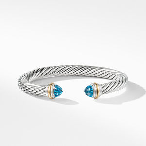Cable Classics Collection® Bracelet with Blue topaz and 14K Gold alternative image