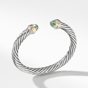 Cable Classics Collection® Bracelet with Prasiolite and 14K Gold