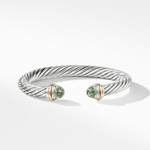 Cable Classics Collection® Bracelet with Prasiolite and 14K Gold alternative image