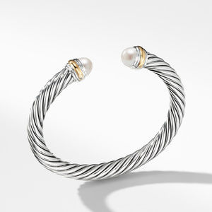 Cable Classics Collection® Bracelet with Pearl and 14K Gold