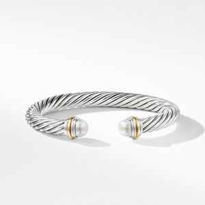 Cable Classics Collection® Bracelet with Pearl and 14K Gold alternative image
