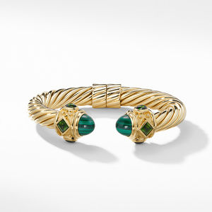 Renaissance Bracelet with Malachite and Green/Chrome Diopside in 18K Gold, 10mm alternative image