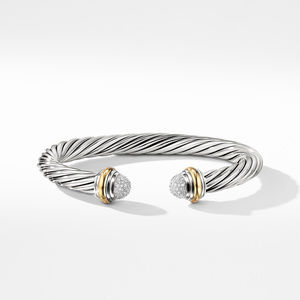 Cable Classics Collection® Bracelet with Diamonds and 18K Gold alternative image