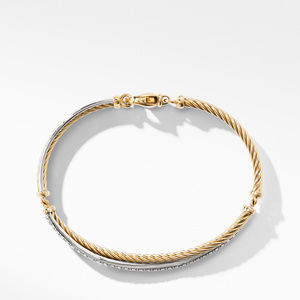 The Crossover Collection® Bracelet with Diamonds in 18K Gold and 18K White Gold alternative image