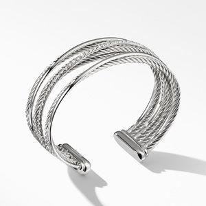 Four-Row Cuff Bracelet with Diamonds