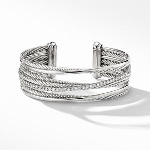 The Crossover Collection® Four-Row Cuff Bracelet with Diamonds alternative image