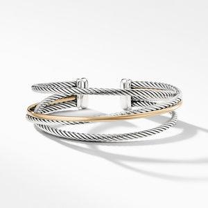Crossover Three-Row Cuff with Gold alternative image