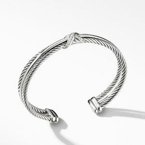 X Crossover Bracelet with Diamonds