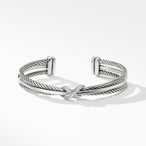 X Crossover Bracelet with Diamonds alternative image