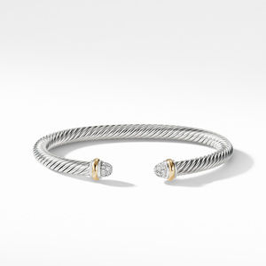 Cable Classics Bracelet with Diamonds and Gold alternative image
