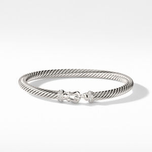 Cable Buckle Bracelet with Diamonds alternative image