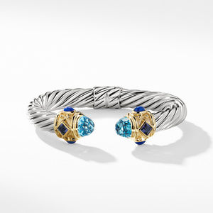 Renaissance Bracelet with Blue Topaz, Iolite, and Gold alternative image