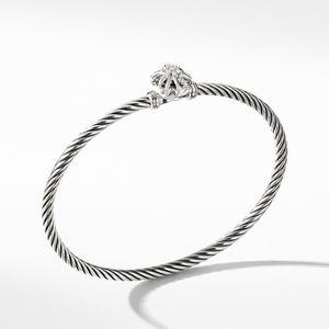 Starburst Single-Station Cable Bracelet with Diamonds