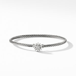 Starburst Single-Station Cable Bracelet with Diamonds alternative image