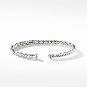 Cable Spira Bracelet in 18k White Gold, 4mm alternative image