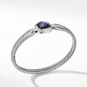 Albion Bracelet with Black Orchid and Diamonds