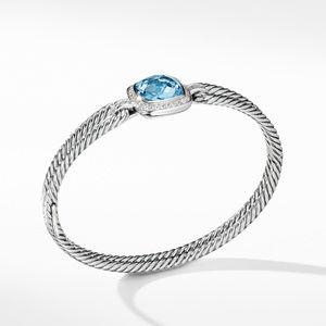 Bracelet with Blue Topaz and Diamonds