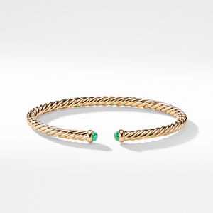 Cable Spira Bracelet with Emeralds in 18K Gold alternative image