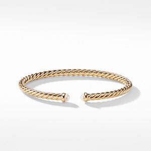 Cable Spira Bracelet with Pearls in 18K Gold alternative image