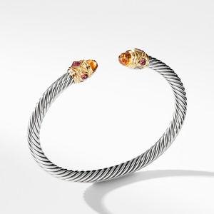 Renaissance Bracelet with Citrine Rhodalite Garnet and 14K Gold