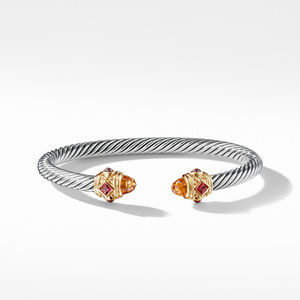 Renaissance Bracelet with Citrine Rhodalite Garnet and 14K Gold alternative image