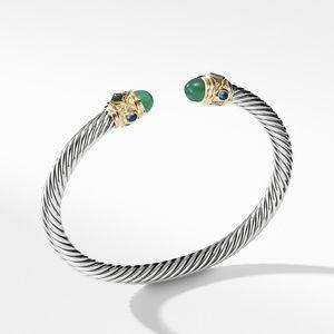 Renaissance Bracelet with Green Onyx Chrome Diopside Hampton Blue Topaz and 14K Gold