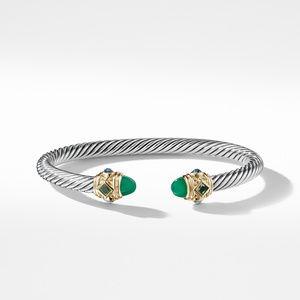 Renaissance Bracelet with Green Onyx Chrome Diopside Hampton Blue Topaz and 14K Gold alternative image