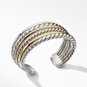 Pure Form® Cuff Bracelet with 18K Gold