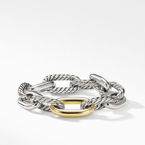 DY Madison Large Bracelet with 18K Gold, 13.5mm