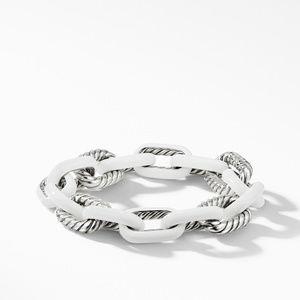 DY Madison® Chain Enamel Large Bracelet in White
