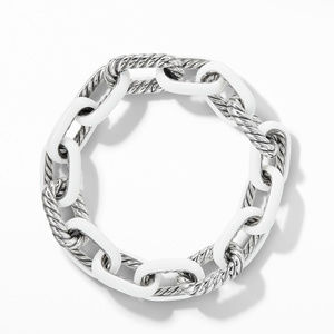 DY Madison® Chain Enamel Large Bracelet in White alternative image