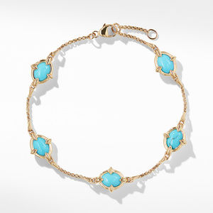 Chatelaine® Chain Bracelet in 18K Gold with Turquoise alternative image