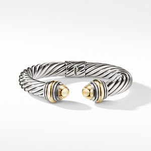 Cable Classics Bracelet with Bonded Yellow Gold and 14K Gold, 10mm alternative image