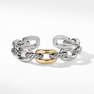 Wellesley Link Single Stack Bracelet with 18K Gold alternative image