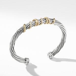 Helena Center Station Bracelet with 18K Gold and Diamonds