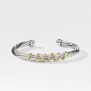 Helena Center Station Bracelet with 18K Gold and Diamonds alternative image