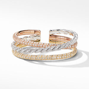 Paveflex Three Row Bracelet  in 18K Gold with Diamonds alternative image