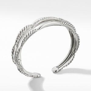 Tides Three Row Cuff Bracelet with Diamonds