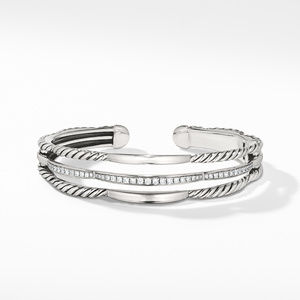 Tides Three Row Cuff Bracelet with Diamonds alternative image