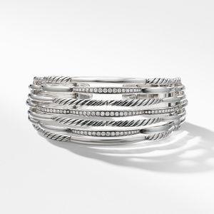 Tides Wide Woven Cuff with Diamonds alternative image