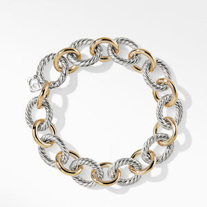 Oval Large Link Bracelet with Gold alternative image