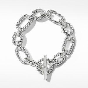 Cushion Link Bracelet with Diamonds, 12.5mm alternative image