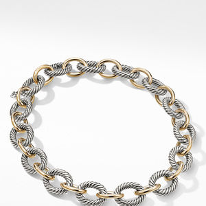 Oval Extra-Large Link Necklace with Gold alternative image