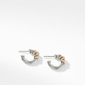 Helena Small Hoop Earrings with Diamonds and 18K Gold alternative image