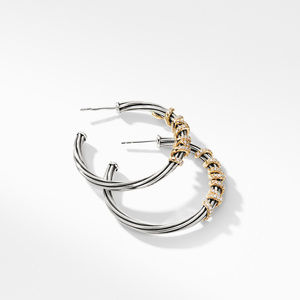 Helena Large Hoop Earrings with Diamonds and 18K Gold alternative image