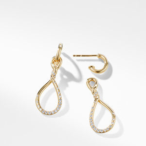 Continuance Medium Drop Earrings with Diamonds in 18K Gold alternative image